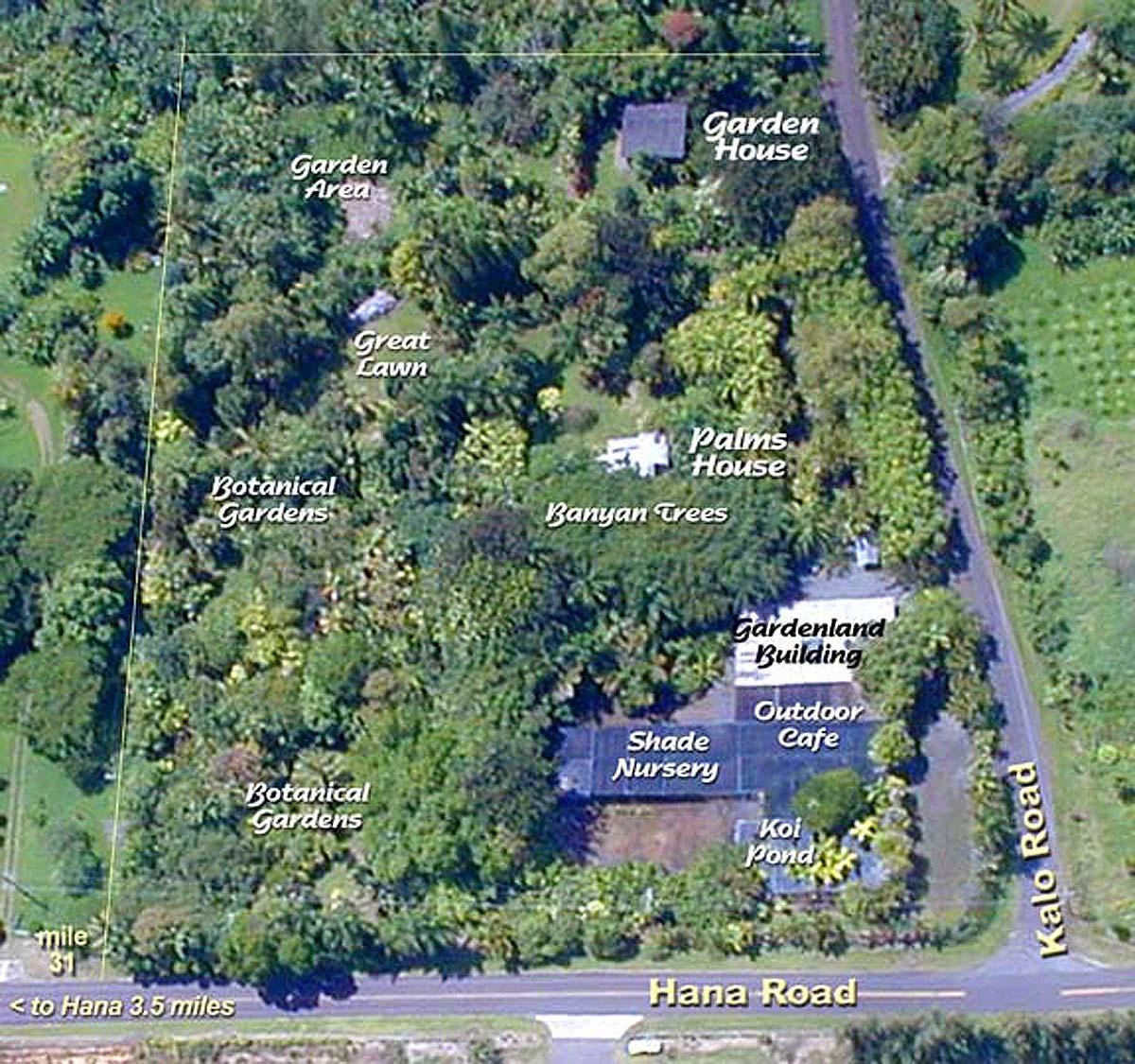 Hana Gardenland Aerial View